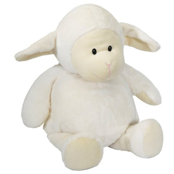 Soft toy with name - Lamb, 14 inch