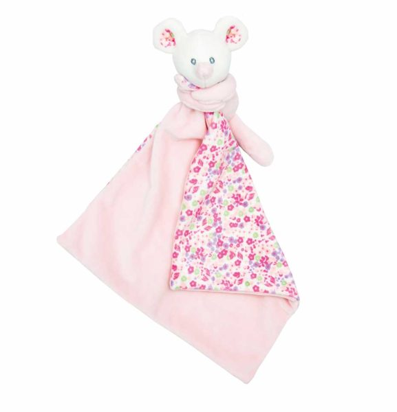 Comforter with name - Baby comforter little mouse Mia | pink | 35 cm