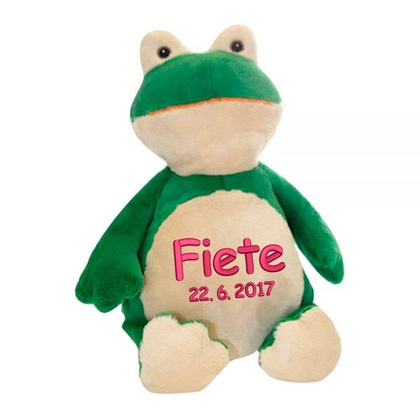 Soft toy with name - Frog Froggy, 16 inch