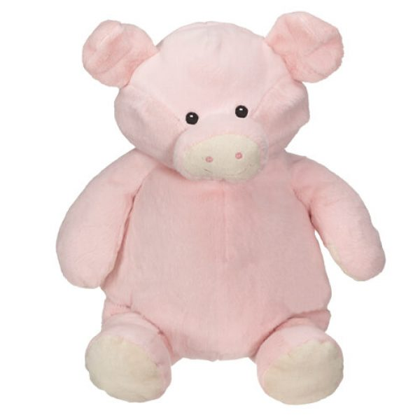 Plush toy with name - piggy, 16 inch