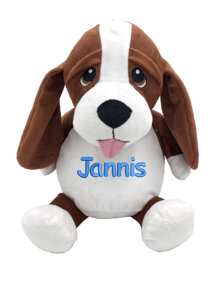 Soft toy with name - Hunting dog, 16 inch