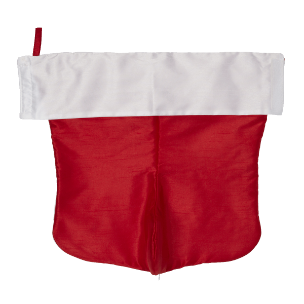Traditional Christmas Stocking, scarlet red