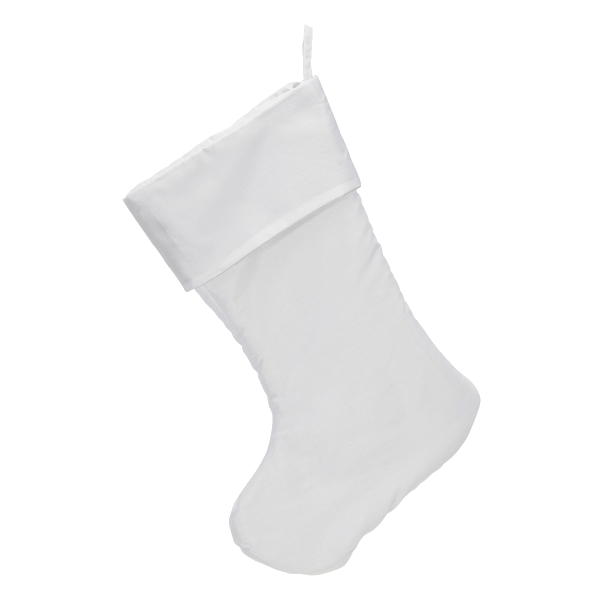 Traditional Christmas Stocking, winter white