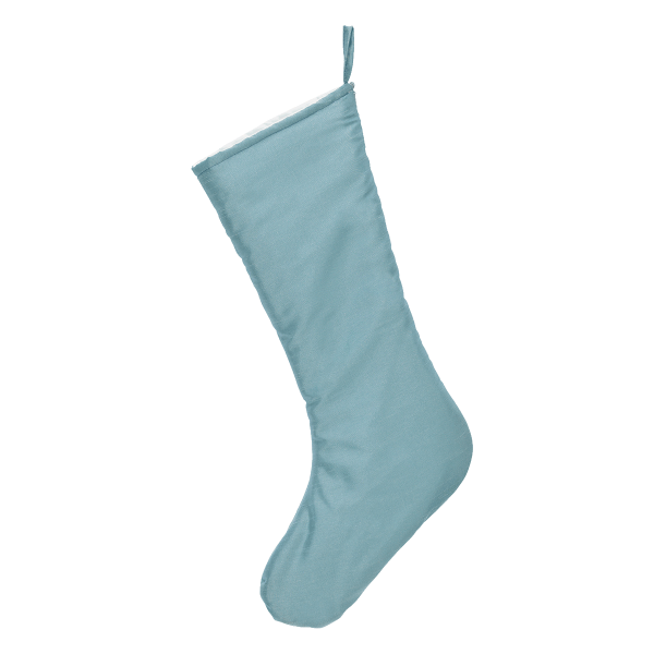 Chic Christmas Stocking, ice blue