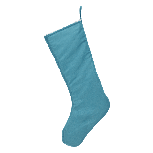 Chic Christmas Stocking, teal blue