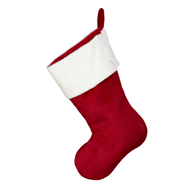 Traditional Santa stocking, red