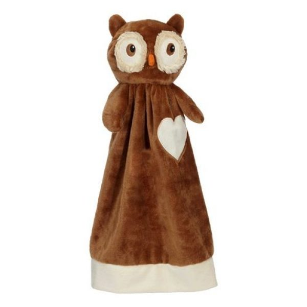 Cuddle cloth with name - Blankey owl, 20 inch