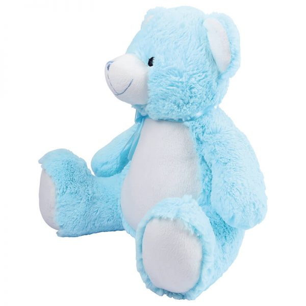 Soft toy with name - Blue Teddy Zippie, 40 cm