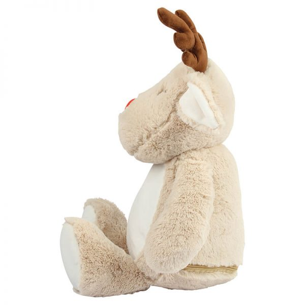 Soft toy with name - Reindeer Zippie, 46 cm